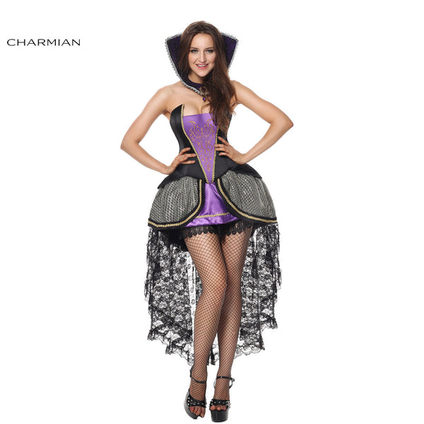 Charmian Halloween Costume for Women Vampire Evil Queen Carnival Party Cosplay Costume Fantasias Feminina Para Festa - Hespirides Gifts - 2