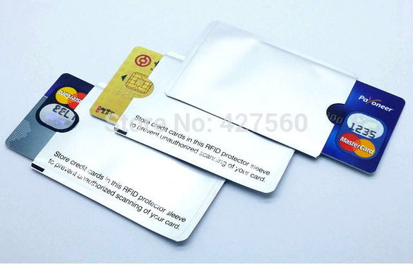RFID Shielded Sleeve Card Blocking 13.56mhz IC card Protection NFC security card prevent unauthorized scanning - Hespirides Gifts