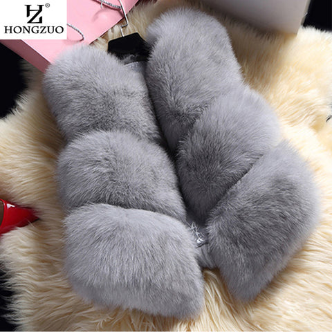 HONGZUO PC038 Fur Coat With Free Winter Scarf
