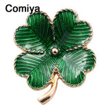 Comiya fashion pins gold color zinc alloy green epoxy flowers charm brooches for women insect brooch broches femininos wholesale - Hespirides Gifts - 1