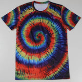 Fashion New Cheap Men Tops Tie Dye T Shirts Men Camisa Fitness Tees Bodybuilding Short Sleeve Crew Neck S-4XL - Hespirides Gifts - 1