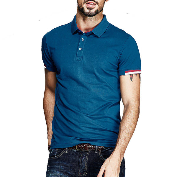 Wholesales or Retail Mens Casual shirt Short Sleeve Fitted Slim Lapel Cotton Polo Shirt M L XL XXL - Hespirides Gifts