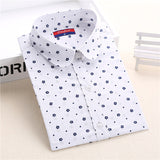 New Brand Polka Dot Shirt Women Long Sleeve Blouse Cotton Plus Size Ladies Tops Turn-Down Collar Camisetas Women Blouses - Hespirides Gifts - 16