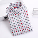 New Brand Polka Dot Shirt Women Long Sleeve Blouse Cotton Plus Size Ladies Tops Turn-Down Collar Camisetas Women Blouses - Hespirides Gifts - 14