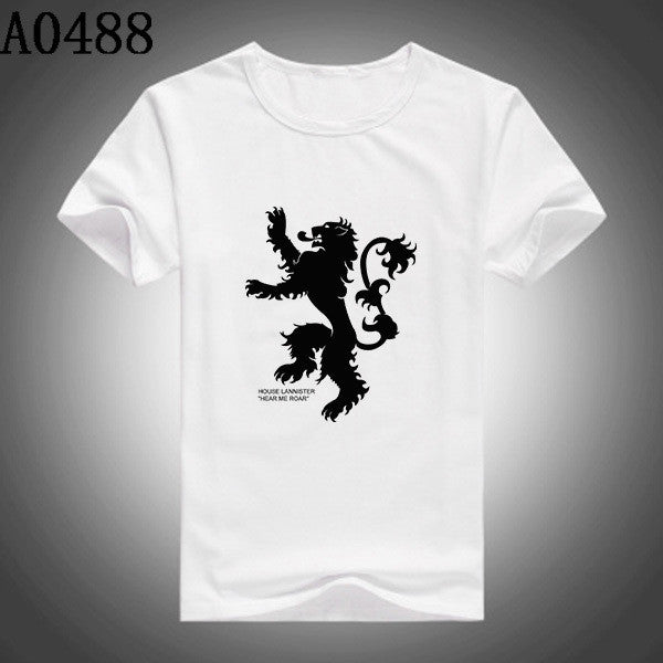 Brand New Slim Fit Game Of Thrones T Shirts House Lannister Short Sleeve Men T-shirts S-XXL Casual Top Tees - Hespirides Gifts - 5