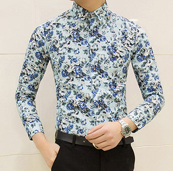 HCXY new fashion spring flower shirts for men casual designer large size men floral shirts camisas masculinas social - Hespirides Gifts - 3