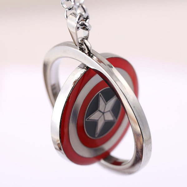 Captain America Choker Necklace Iron Man Rotatable Pendant Men Women Gift Movie Anime Jewelry Accessories YS11383 - Hespirides Gifts