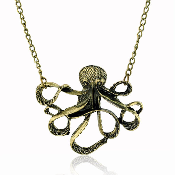 Steampunk Retro of the Animal Octopus Pendant Necklace Sweater Long Chain Unisex Jewelry For Women Men - Hespirides Gifts - 2