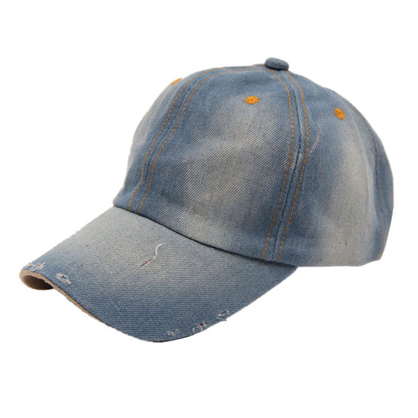 Brand new Baseball Caps Fashion Unisex Jean Sport Hat Casual women men Denim Baseball Cap Sun Hat - Hespirides Gifts - 3
