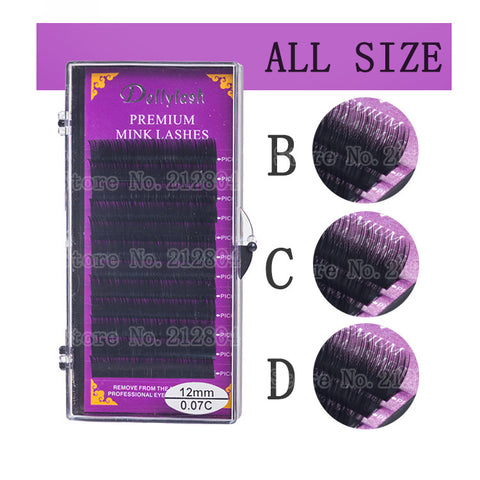 Hot All Size B C D Curl Individual Mink Eyelash Extension Soft Black Fake False Eye Lashes9-14mm Makeup Toool - Hespirides Gifts