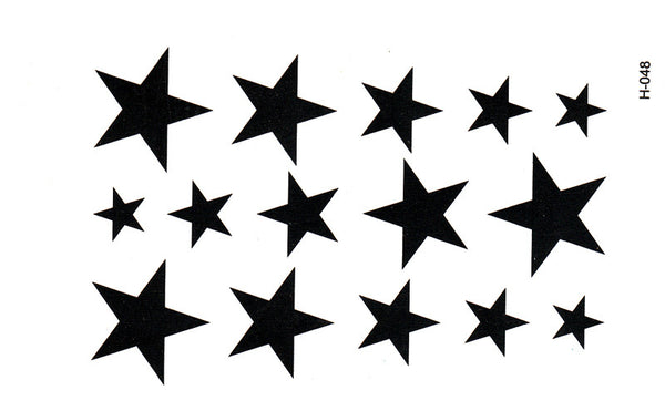 New Water Transfer Star Waterproof Temporary Tattoo Sticker Sexy Product 10.5*6cm tatoo stickers