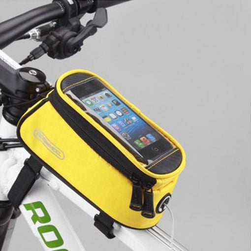 ROSWHEEL BICYCLE BAGS CYCLING BIKE FRAME IPHONE BAGS HOLDER PANNIER MOBILE PHONE BAG CASE POUCH - Hespirides Gifts - 6