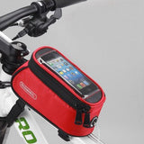 ROSWHEEL BICYCLE BAGS CYCLING BIKE FRAME IPHONE BAGS HOLDER PANNIER MOBILE PHONE BAG CASE POUCH - Hespirides Gifts - 5