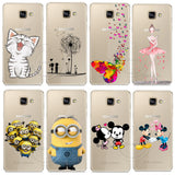 Minions Cat Mickey & Minnie Kiss Hard Case Cover For Samsung Galaxy A310 A510 A710 J110 J510 J710 A3 A5 A7 J1 J5 J7 2016 - Hespirides Gifts - 1