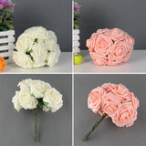 Pretty Charming 10 Heads Lovely Cute Artificial Rose Flower Wedding Bridal Bouquet Home Decor 2 Color - Hespirides Gifts - 1