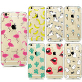 New Summer Fruit Banana Unicorn Transparent Silicone Soft TPU Cases for iPhone 7 7plus 5 5S SE 6 6s Cactus Flamingo Phone Covers - Hespirides Gifts