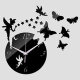 New Wall Stickers Home Decor Poster Diy Europe Acrylic Large 3d Sticker Still Life Wall Clock Horse Butterfly - Hespirides Gifts - 2