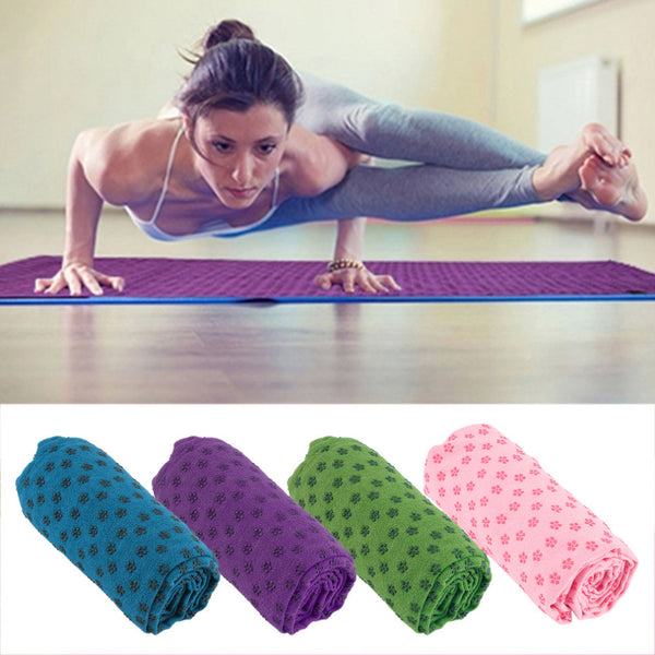 Soft Travel Sport Fitness Exercise Yoga Pilates Mat Cover Towel Blanket - Hespirides Gifts