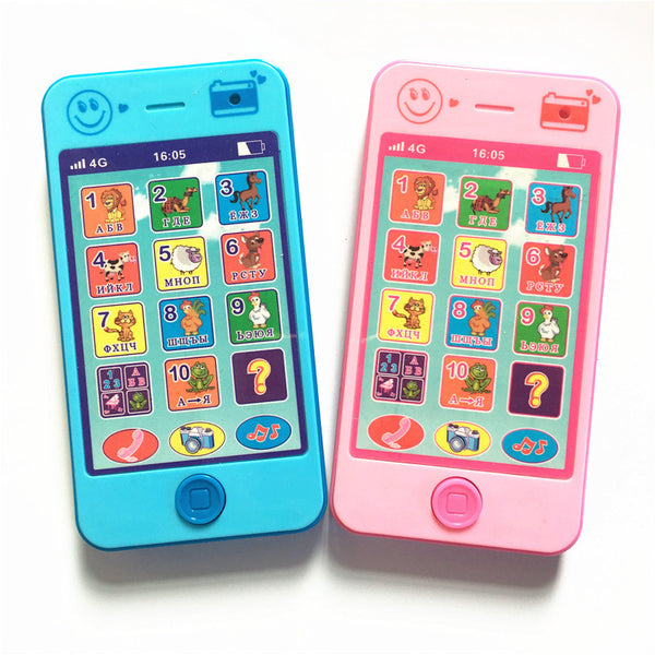 Kids Phone children's educational simulationp music mobile toy phone latest version of russian language Baby toy phone