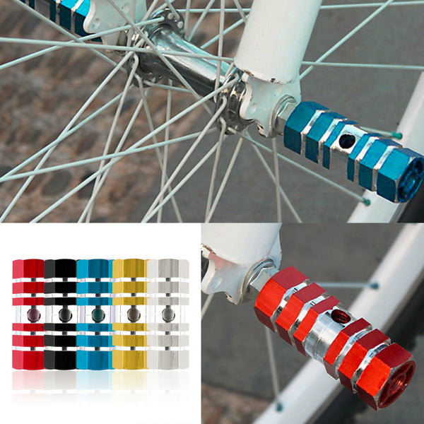 New 2pcs Bicycle Foot Pegs 1 Pair Aluminum Alloy Pegs Bike Cycling Bicycle Rear Stunt Foot Peg Six Axle - Hespirides Gifts