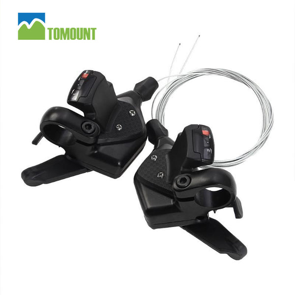 New TOMOUNT MTB 1Pair 3x8 Speed Bike Shifter Brake Lever Set Bicycle Cycling Disc Brakes With Shift Cable Aluminum Alloy - Hespirides Gifts