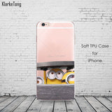 Cute Despicable Me Yellow Minion Design Cover Sofe Minions Case For iphone 6 6s 5 5s SE 7 plus Transparent Silicone Coque Fundas - Hespirides Gifts - 8