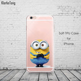 Cute Despicable Me Yellow Minion Design Cover Sofe Minions Case For iphone 6 6s 5 5s SE 7 plus Transparent Silicone Coque Fundas - Hespirides Gifts - 11