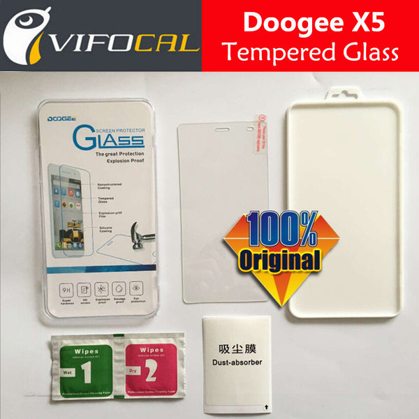 DOOGEE X5 Tempered Glass 100% Original Premium 9H Screen Protector Film For Doogee X5 Pro Mobile Phone + - Hespirides Gifts