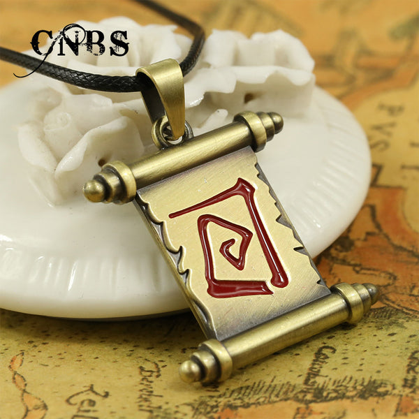 Hot Game Dota 2 Magic scroll Bronze Necklace can drop Charm Pendant Cosplay Accessories Jewelry Gift YS10825 - Hespirides Gifts