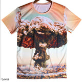 european style creative t shirt fashion sightseeing printing t-shirt short sleeve o neck - Hespirides Gifts - 8