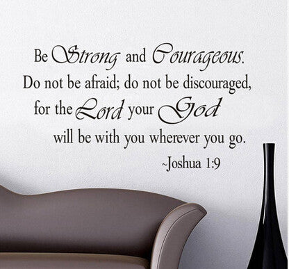 Christian Inspirational Quotes Vinyl Lettering Wall Stickers 8127 Decals for Living - Hespirides Gifts