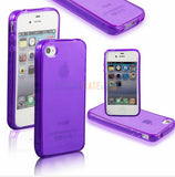 Ultra thin Colorful Transparent CLEAR JELLY TPU Gel Soft Silicone Case Cover Protector For iPhone 4 4S 5 5S 5G SE 6 6s 6 Plus - The Fire Pits Store  - 8