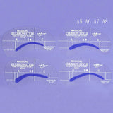 Eyebrow Shaper Stencil 4 styles/set Grooming Shaping DIY Beauty Eyebrow Template Make Up Tool - The Fire Pits Store  - 6