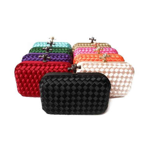 Factory new listing women candy color Wove evening bag and clutches shoulder - Hespirides Gifts - 1