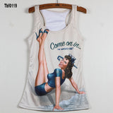 New Sexy Leopard Women Graffiti Printing 3D Vest Stripe Tank Tops Women - Hespirides Gifts - 6