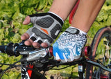 Cycling gloves Bike Bicycle gloves Hexagon 3D GEL Shockproof Sports Half Finger - Hespirides Gifts - 9