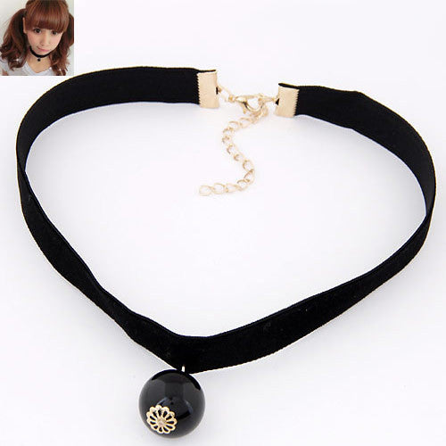 Goth Black Velvet Ribbon Imitation Pearl Star Cross Gothic Necklace Sailor Moon Cosplay - Hespirides Gifts - 10