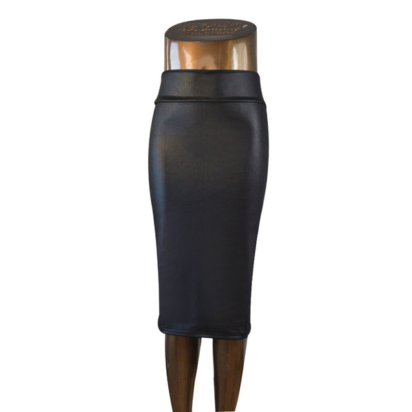 plus size high-waist faux leather pencil skirt black skirt 9 colors S/M/L/XL - Hespirides Gifts - 9