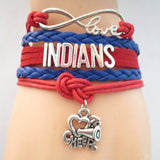 Infinity Love INDIANS baseball Sports Team Bracelet Customize Sports friendship Bracelets B09337 - Hespirides Gifts - 3