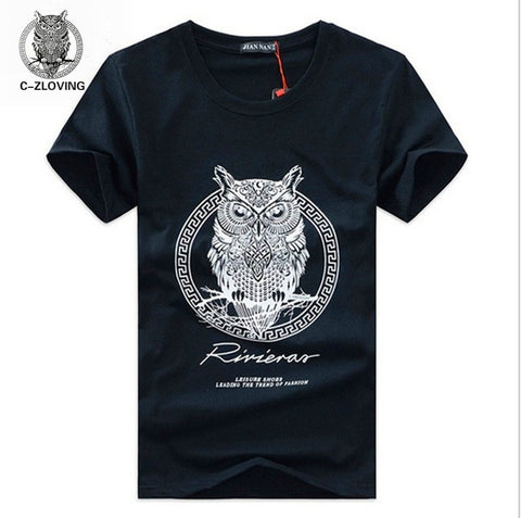 men t-shirt summer style men tshirt with funny print men's tshirt homme cotton cartoon OWL T-shirt mens brand tee shirt - Hespirides Gifts - 1