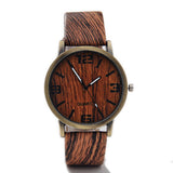 Classical Bamboo Wooden Watch New Arrival Women Wristwatches High Quality Vintage Style Men Dress Watch PU Leather Quartz Watch - Hespirides Gifts - 10