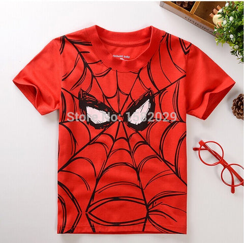 New children t shirts,Spider-man Print Kids Baby Boy Tops Short Sleeve T-Shirt Summer Tee - The Fire Pits Store  - 1