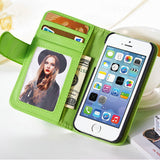 Hot Wallet Flip PU Leather Case For Apple iPhone 4 4S 4G Magnetic Case with Photo Frame Card Holder Smart Stand Skin Bags Cover - The Fire Pits Store  - 11