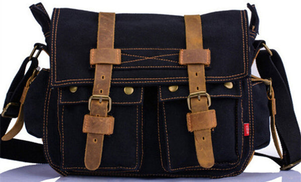 New Design Fashion Canvas Women Bags High Quality Casual Black Men Messenger - Hespirides Gifts - 3