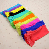 Candy Color Velvet Lace Children Girls Cotton Pants Leggings 18.5 inches long - Hespirides Gifts - 12