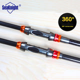 SeaKnight 99% Carbon Fiber 1.8-3.6M Super Hard Telescopic Fishing Rod Carbon Spinning Pole Sea Fishing Stick Colorful Ring - The Fire Pits Store  - 3