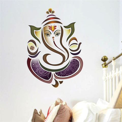 Ganesh Elephant Yoga Studio Decal Wall Decals Stickers Home Decor Vinyl Sticker - Hespirides Gifts - 1