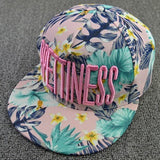 Hats Letter Embroidery Flowers Sweet Hats For Women Hip Hats Fashion Baseball Cap - Hespirides Gifts - 5
