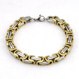 Hot Fashion Stainless Steel Bracelet Men Byzantine Link Chain Bracelets & bangles Pop Love Style, pulseira masculina - Hespirides Gifts - 6