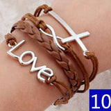 Vintage Bird Owls Anchor Bracelets Wrap Leather Bracelet Charm bracelets - Hespirides Gifts - 2